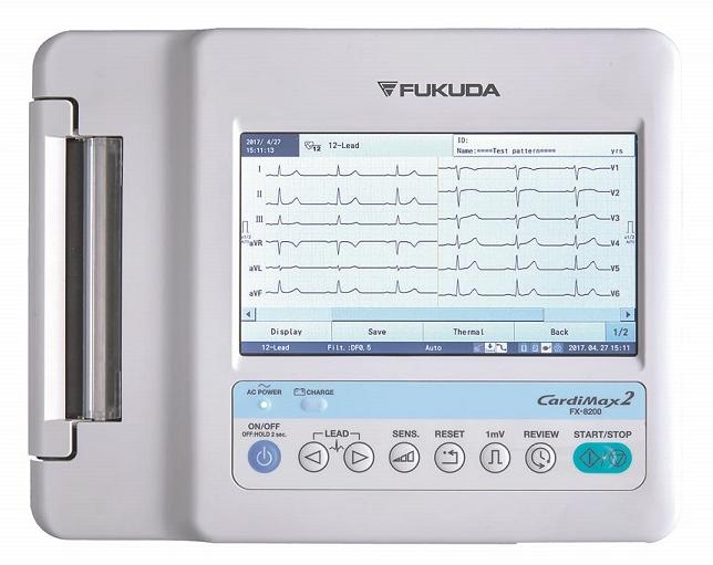 Electrocardiógrafo ECG Fukuda Denshi FX-8200 6 canales