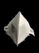 Lote de 5 mascarillas plegables de protección respiratoria FFP2 NR-Bolsa individual