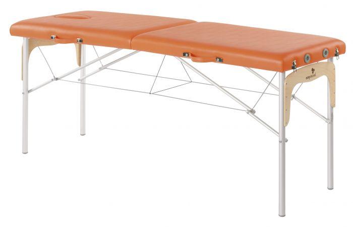 Camilla plegable de patas mixtas (aluminio y madera) Ecopostural C3312