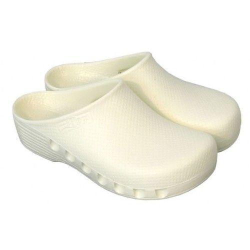 Zuecos de quirófano Mediplog no perforados Blancos