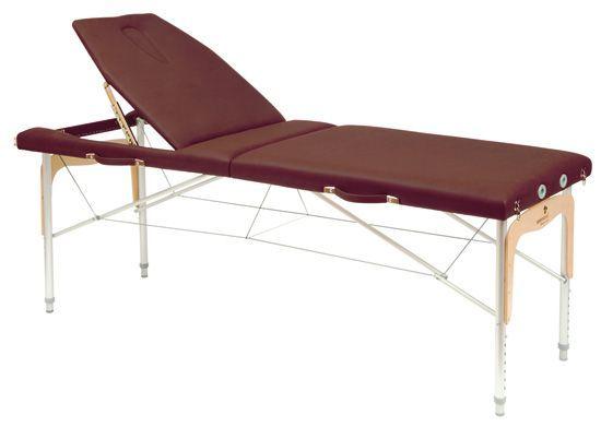Camilla plegable de patas mixtas (aluminio y madera) Ecopostural 3314