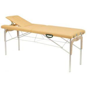 Camilla plegable de patas mixtas (aluminio y madera) Ecopostural C3315