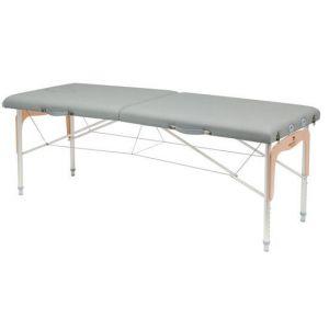Camilla plegable de patas mixtas (aluminio y madera) Ecopostural C3311