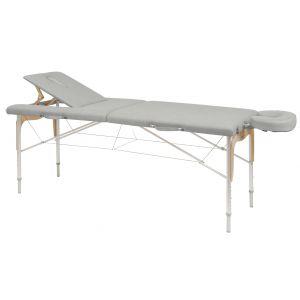 Camilla de masaje plegable y regulable en aluminio y madera Ecopostural C3310