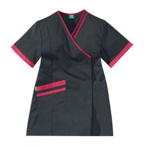 Bata Medica Corta Mujer LILEE 8TCC00PC Carbone/Fushia Adolphe Lafont