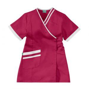 Bata Medica Corta Mujer LILEE 8TCC00PC Rosa fushia/Blanco Adolphe Lafont