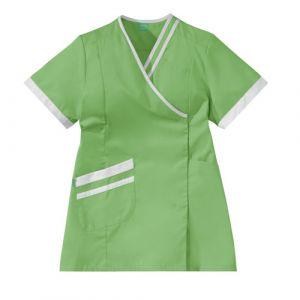 Bata Medica Corta Mujer LILEE 8TCC00PC Verde manzana/Blanco Adolphe Lafont