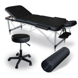 Pack Masaje Mediprem: su camilla de masaje con taburete y cojín de masaje
