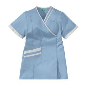 Bata Medica Corta Mujer LILEE 8TCC00PC Azul cielo/Blanco Adolphe Lafont