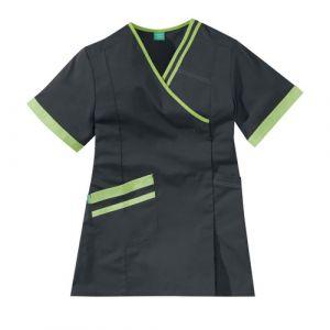Bata Medica Corta Mujer LILEE 8TCC00PC Carbone/Verde manzana Adolphe Lafont