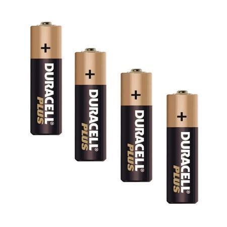 Pilas LR6 Duracell Plus, paquete de 4