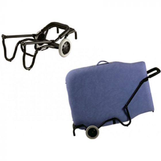 Carrito plegable Ecopostural ideal para el transporte de camillas plegables A4473