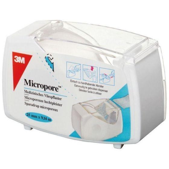 Esparadrapos 3M Microporo cCon carrete blanco hermético