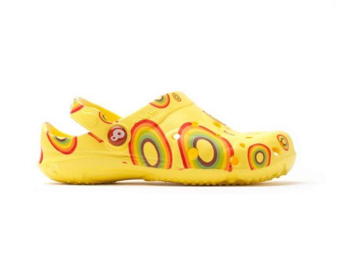 Zuecos Schu'zz Globule niño arcoíris amarillo