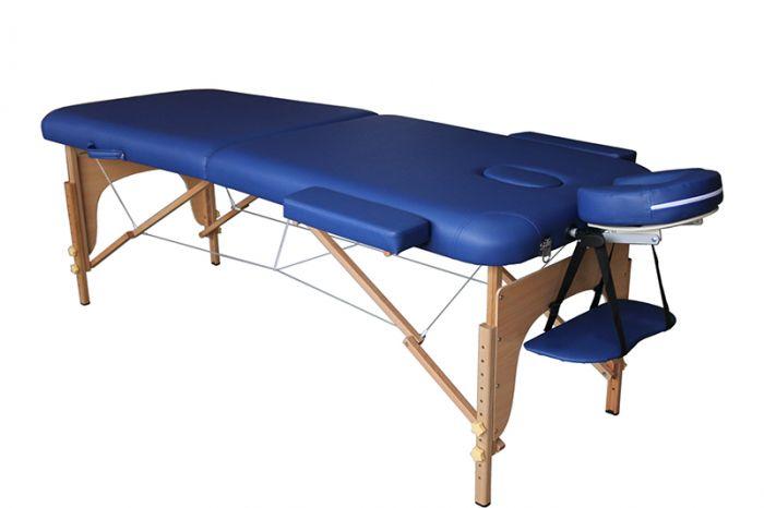 Camilla de masaje plegable de madera Mediprem Eco Pro Azul