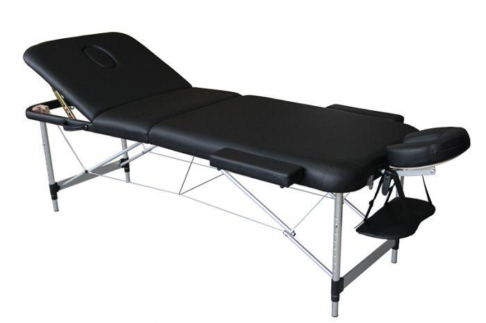 Camilla de masaje plegable 3 cuerpos Mediprem Eco Pro Alu Negra